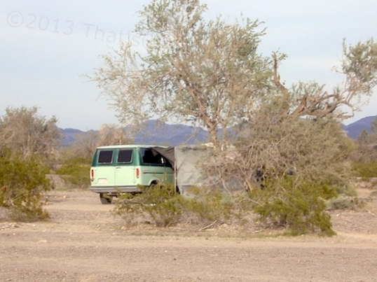 There aren't too many of this type setup in the LTVA, but a van and tent are far from rare.