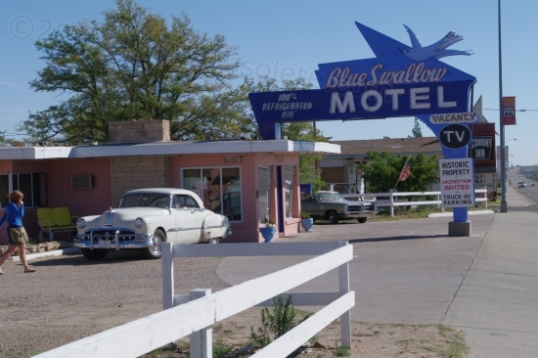 The Blue Swallow Motel in Tucumcari, New Mexico.
