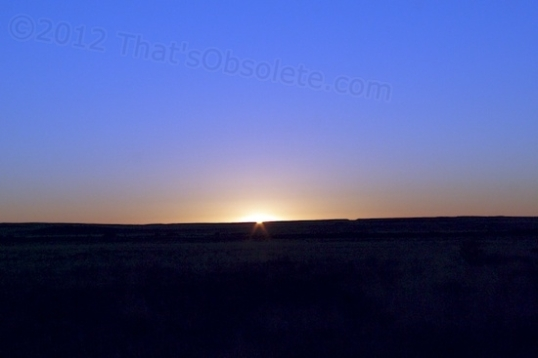 Sunrise at the Petrified Forest National Park.