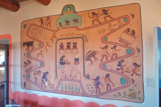 One of the Kabotie murals adorning the dining room.