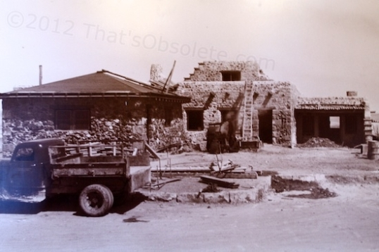 The reconstruction of the Painted Desert Inn in the late 1930s.