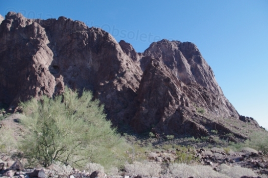 This is just one end of the rock formation. It goes far to the left as well.