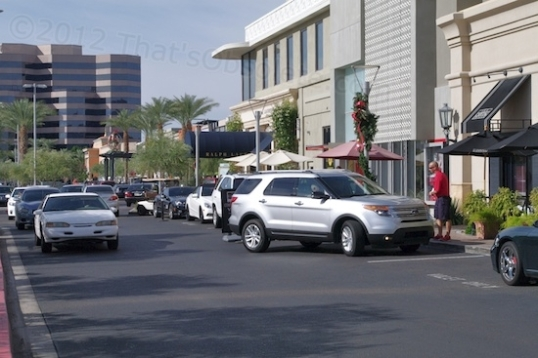 One of many valet parking stations at the toney Biltmore Fashion Center in Phoenix.