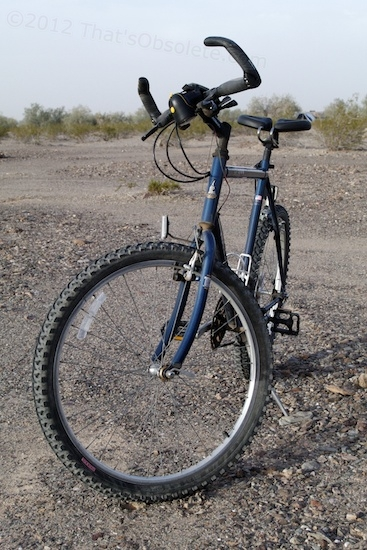 Okay, so between the seat and the handlebars, my Raleigh now looks pretty strange, but considering that I couldn't even ride it for short hops before, these components now make the bike completely usable. The limiting factor is now exhaustion, not pain. That's actually good.