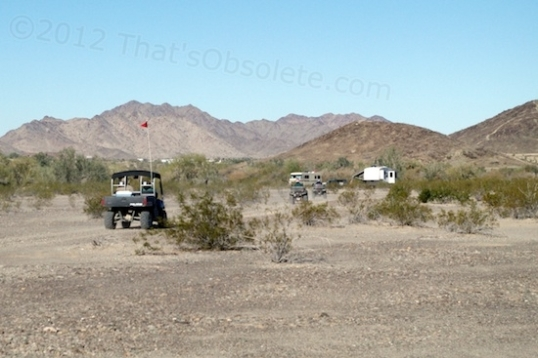 Also popular are ATVs or quads. They're all over out here, and now and then you'll see a conventional tube-frame dune buggy. They like to go out in groups to tour the area, and Quartzsite allows them on the city streets as well.