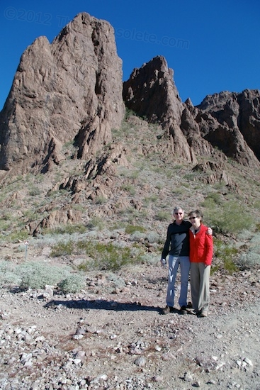 Coupla' Codgers in Kofa! This was taken at the trailhead before going in.
