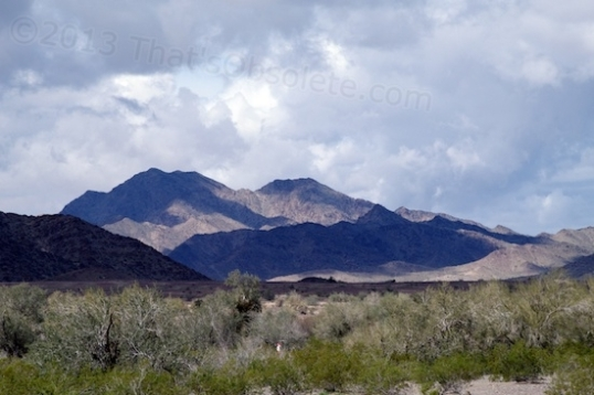 The view out of my office window in Quartzsite, Arizona. Such views can affect your work pace either way.