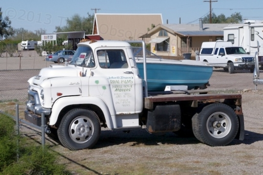 This 1959 GMC LCF-350 was used to tow mobile homes, hence the short bed and wheelbase. Now using a GMC/Chevy 302 V8, I think it has some interesting possibilities. For sale at $950. What a beast!