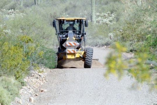 Well, it's a little easier to travel after a road grader has smoothed it out a little.