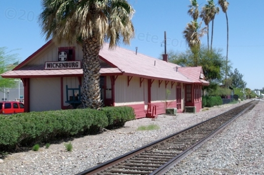 Wickenburg's 1895 Santa Fe train depot is now the town's visitor center. They offer free maps for a walking tour.