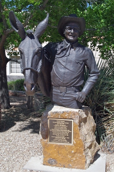 "Unlike me, Everett Bowman didn't live in his head. He was ""All-around champion cowboy of the world"" in 1935 & 1937, was originator and organizer of the Turtle Association in 1936 (which became the Professional Rodeo Cowboy Association (PRCA), owned a ranch, got a private airplane and license in 1939, took up golf in 1947 and shot a hole in one in 1952, became a champion mule trainer, was Head Wrangler at the Flying-E Ranch from 1960-1962, and was generally acknowledged as the cowboy's cowboy. Other than that, he did nothing.  ; ) 1899-1971."