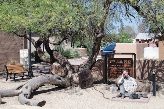 Remember the 200-year-old Jail Tree? This mesquite tree was the open-air anchor for felons from 1863-1890, and had no escapes. But what about, you know, restroom breaks?