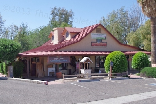 Again, this MIGHT be the Trinidad House, the oldest house in Arizona. It was a military post, then a stage coach stop, and then a store. It's now Copperstate Cowboy Antiques & Collectibles.