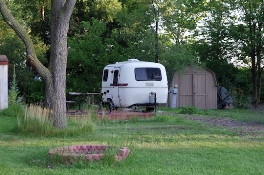 Seasonal campers go from this little trailer to 36-footers.