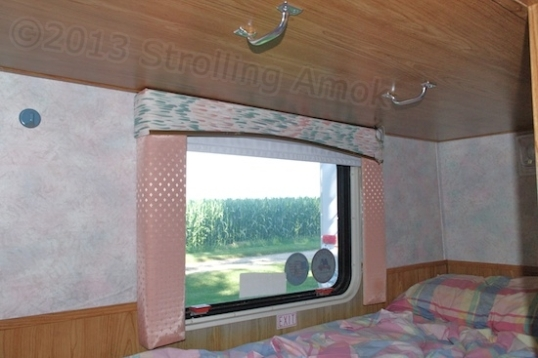 Exit from the bunkbed is made much easier with high handles.