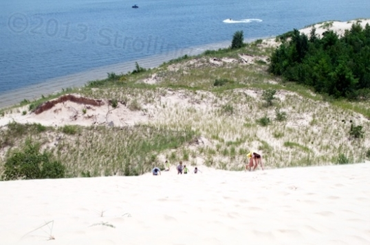 This is simply a view of Silver Lake from the top of a sand dune.