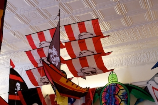 A local kite shop is filled with highly unusual creations, all for sale.