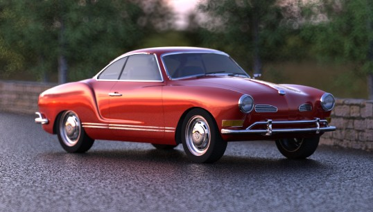 This pretty much represents what the earlier Karmann Ghia looked like. Svelte and aerodynamic.