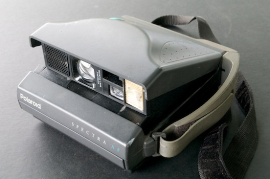 This Polaroid Spectra is one of the successors to the SX-70, but is much more automatic, tougher, and less expensive.