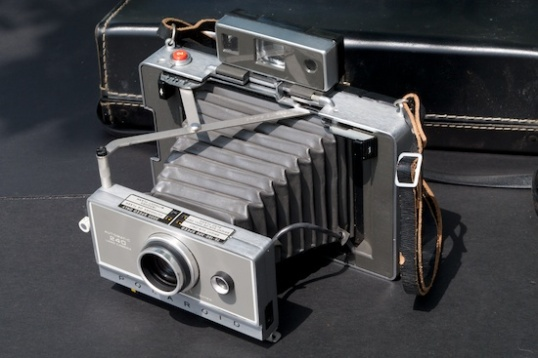 The Polaroid Automatic 100 certainly wasn't the first Polaroid, but it was the easiest to use, with compact film cassettes and automatic exposure.