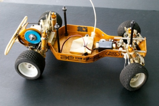 This is old, and comparatively slow. For some reason, RC racers are going all nostalgic for these, so even a well-worn example like this can fetch a few bucks. Pristine ones go well into three figures!
