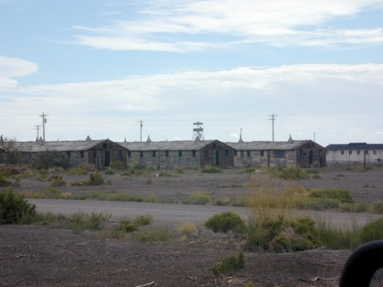 One little group of bunkhouses among many acres of them.