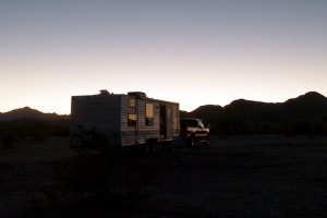 Weeks in Quartzsite, Arizona with a non-functional solar system! But the sunsets were gorgeous...