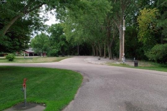 The entrance to Buckley Park, Stromsburg, Nebraska.