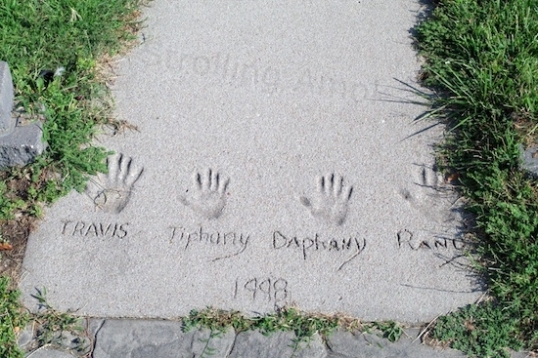 Like the peculiar name spellings, Stromsburg is an unusual town. Even the company that laid in some sidewalk similarly scrawled their name into an end panel.