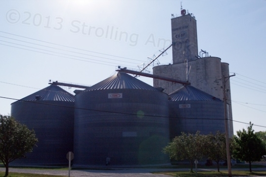 The grain co-op points to what rural living centers on around here.