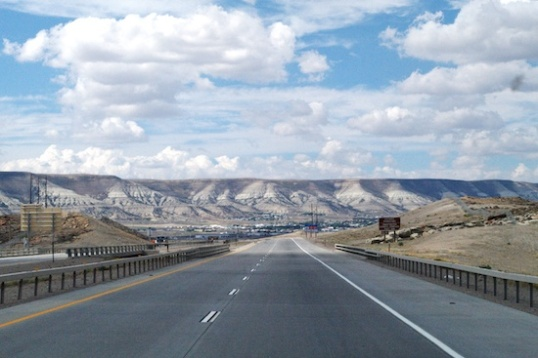 Driving in Wyoming can visually be as good as it gets.