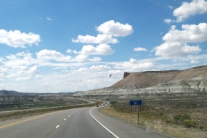 Out Wyoming way. I never took any photos on the upgrades or downhill descents. I was busy!