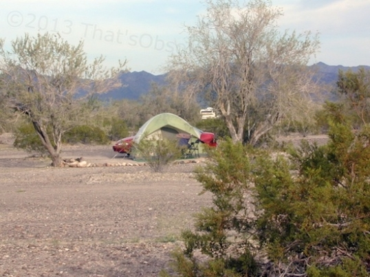 People do car camp in the boonies, but not very many.