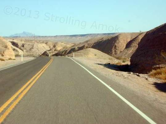 Still near Lake Mead, the landscape is right there near you.