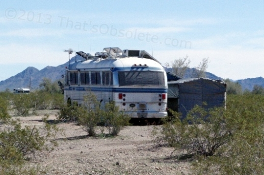She may not be pretty, but these folks stayed in Quartzsite for five months before having to turn the key.