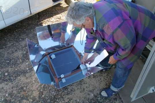 A solar oven what am.
