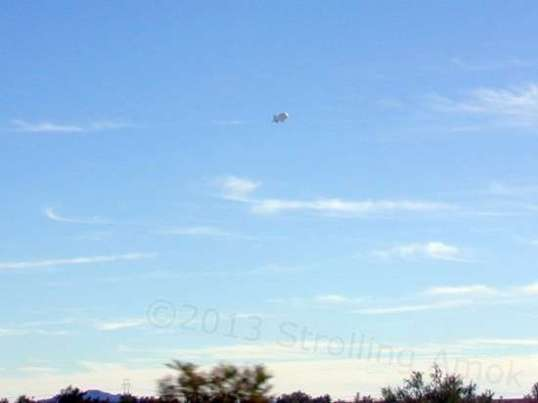 Some kinda balloon/dirigible at the northern edge of the Yuma Proving Grounds.