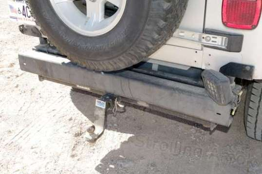 The rear bumper has a light to make hitching up easier.