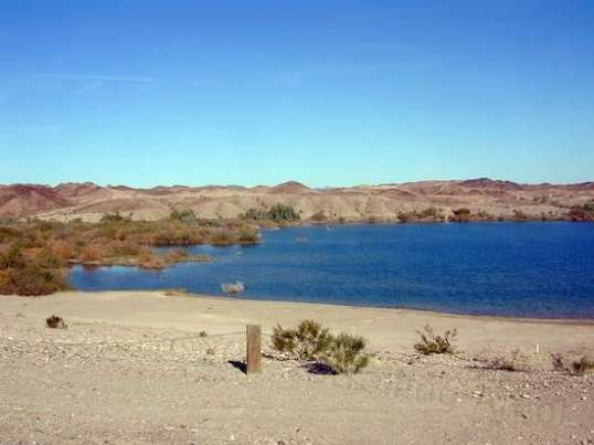 The reservoir is man-made and is actively used for irrigation, so one day it can look like this...