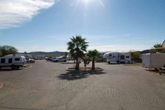 The entrance to the main parking area is pretty inviting for a truck camper, conversion van, small motorhome, or small travel trailer.