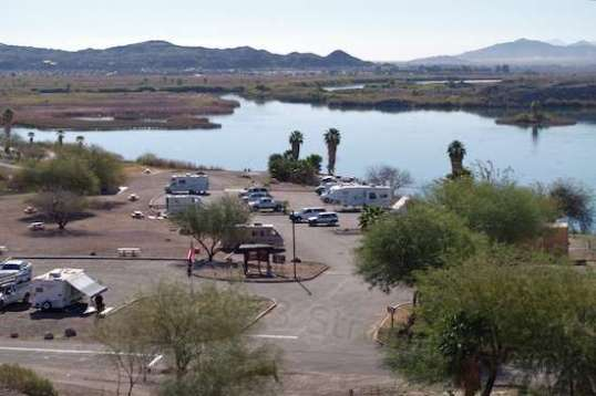 At center, the main parking lot offers access to fun if you have a boat, and superb surroundings if you don't.
