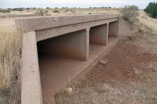 This is an unusually long overpass, but is typical of the style and build quality used throughout. This is serious stuff. You don't spend money like this on a dirt trail.