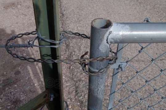 Not gonna happen anytime soon, though. Though there's no lock, the wire is mighty stout. There just isn't much point in getting kneecapped by a ranger merely to trim a couple miles off of a trip into the little-used area where the Defiant resides. There's no destination that this entry aids any more.