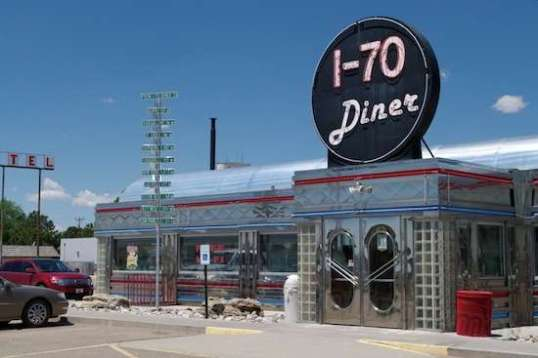 It's the I-70 Diner! Not the cleverest name, but it works for them. How is it that the architecture has such a siren call?
