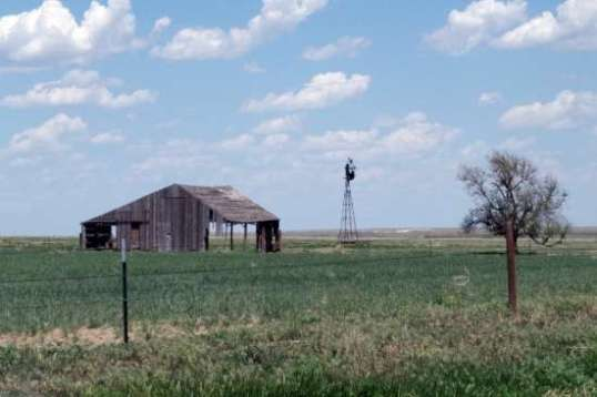 On the way out to the unsuitable wildlife preserve, this sagging building and windmill caught my attention.
