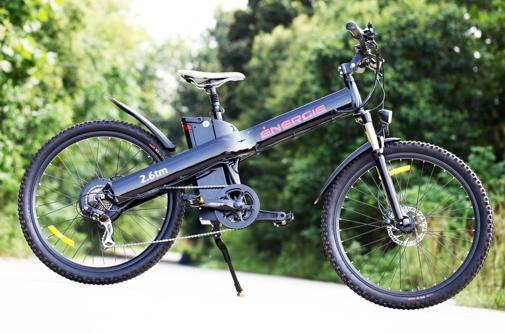 E-bikes can be stylish, too. This Energie 2.6tm may not be right for me, but looks good.