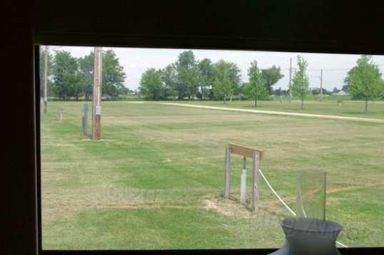 My front yard, freshly mowed - but not by me! This is the daily view out my dining area window.