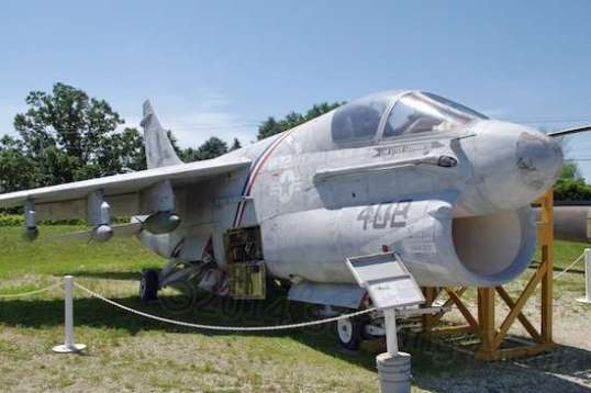 The A-7, a ground attack airplane, was no beauty, but started duty in 1965 and served right up through Desert Storm and Desert Shield. It could carry quite a payload of bombs and, if I recall rightly, was also later used for electronic warfare in close air support of attacks by newer aircraft.