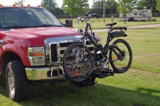 How do you carry a heavy e-bike and trailer when there ain't no mo' room?