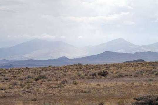 The view southwest, toward Wendover. When the sky looks like this, a 9-mile bike trip to town may get moist at times.